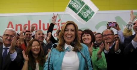 Susana Díaz tras conocer los resultados de las elecciones del 22 de marzo