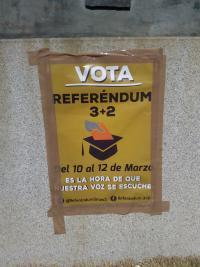 Cartel del 'Referéndum 3+2'. Fuente propia