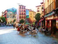 El barrio madrileño de La Latina, habituado por estudiantes