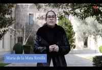María de la Mata Renilla, estudiante de Periodismo y Economía, realizando un videoanálisis económico sobre Vicálvaro
