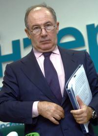 Rodrigo Rato tras una conferencia del FMI. Fuente: commons.wikimedia.org