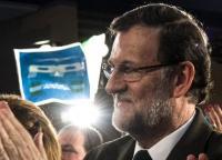 Rajoy hablando en un acto oficial del Partido Popular.